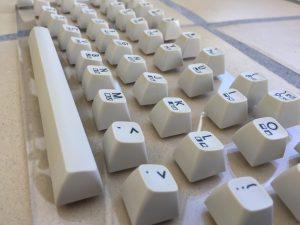 Commodore 64 colored keyboard. breadbox64.com