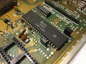 CIA 6526 chip replaced to fix keybord problem with Commodore 64 c