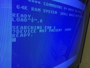 COmmodore 64 device not present error repair log. breadbox64.com
