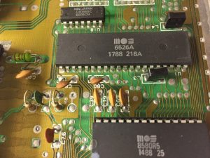 Commodore 64 with no diskette access. repair job.
