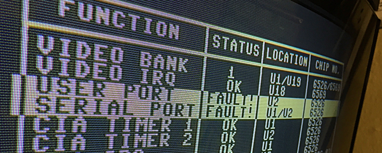 Commodore 64 with no diskette access. repair job.