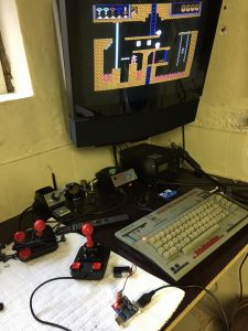 Commodore 64 wireless joystick mod. breadbox64.com