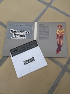 Montezuma's Revenge Parker Brothers Commodore 64 diskette game with instruction booklet and an image of Panama Joe
