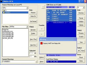 CBMXfer software for the xu1541 devices. breadbox64.com