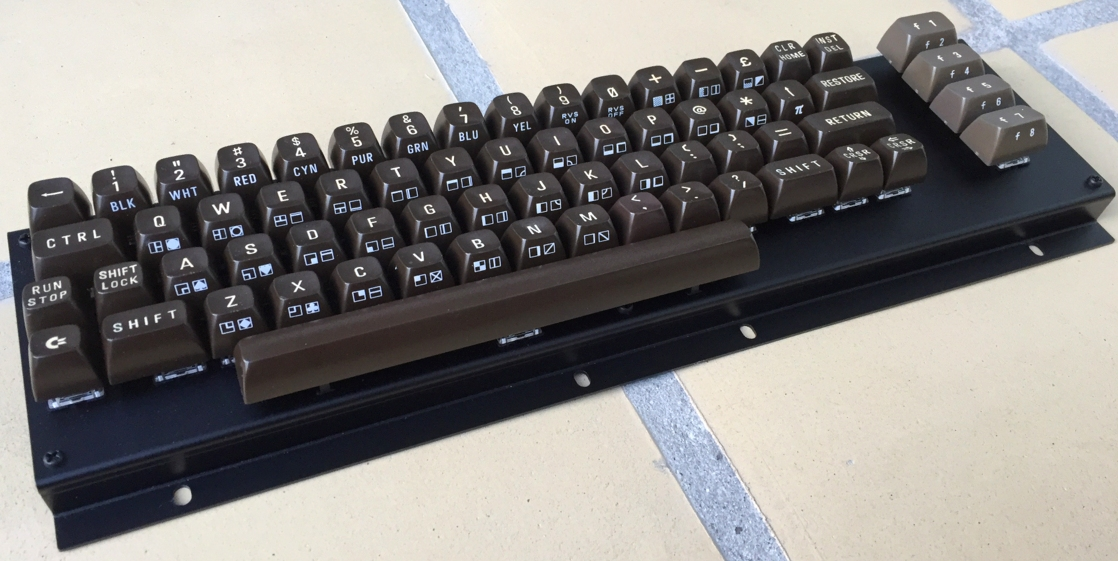 New Commodore 64 keyboard. The MechBoard64