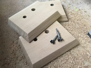 Commodore 64 joystick made out of solid oak wood.. breadbox64.com