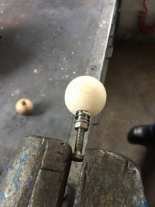 Wooden ball tops for Sanwa JLF joystick. breadbox64.com