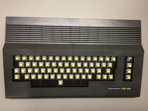 MechBoard64 inside a brand new Commodore 64 cases in retro black. Breadbox64.com.