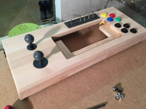 Happ arcade button used with the Xbox adaptive controller. physical disabled gaming. breadbox64.com